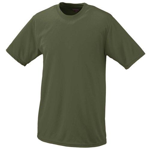 Augusta Herren Sportswear Wicking T-Shirt, Herren, Olive Drab Green, Small - Augusta Sportswear Mesh Shorts