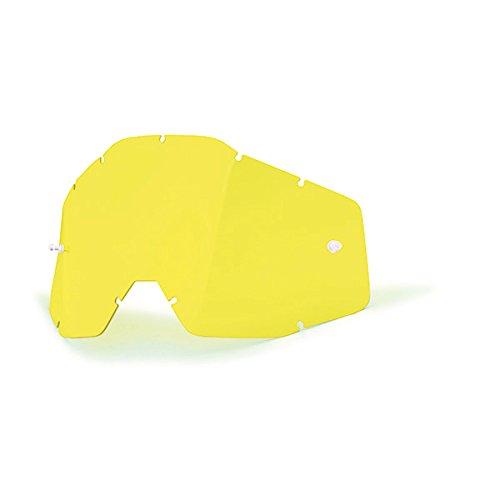 100% Accuri Racecraft/Accuri/Strata Ecran pour Masque Jaune Anti-Buée