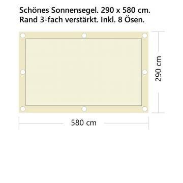 StoffHandwerker Sonnensegel - Fix+Fertig - 300 x 600cm - Rechteck