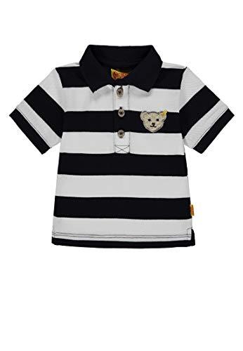 Steiff Baby-Jungen 1/4 Arm Poloshirt, Mehrfarbig (Y/D Stripe|Multicolored 0001), 80
