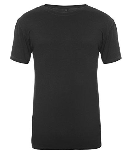 Mens T-Shirt, Black - XL, Bamboo...
