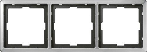 Preisvergleich Produktbild Merten 481346 ARTEC-Rahmen, 3fach, Edelstahl