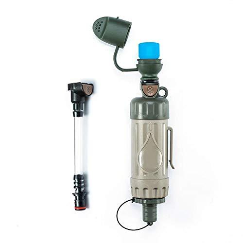 Trinkwasserfilter Für Outdoor - Notfall Wasserfilter Entfernt 99.9% Bakterien & 0.05 Mikron Filter Chemiefrei Survival Camping Zubehör Ausrüstung Zum Überleben Trinkwasseraufbereitung - Tragbare Wasserfilter Lifestraw