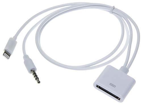 Adapter-Universe® 5276 Dans AUX Adaptateur Universe® Dock 3,5 mm d'entrée câble audio câble audio f iPhone iPod