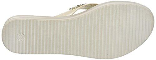 INBLU Damen Bamby Flops Elfenbein (Bianco)
