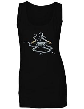 Criatura mítica divertida del diablo de la fe del monstruo camiseta sin mangas mujer ss30ft