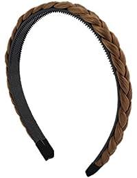 BONAMART ® 3 x Elegant Elastisch Haarband Geflochten Braun Blond Stirnband Perücke Damen