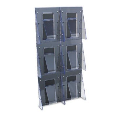 35.25 (deflect-o 56401 - Multi-Pocket Wall-Mount Literature Systems, 18-1/4w x 2-7/8d x 35-1/4h,Clear/BK-DEF56401 by Deflecto)