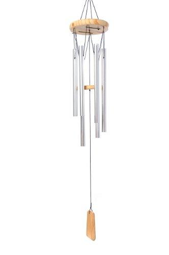 Galleria fotografica Bellissimo carillon di vento, 100% fatto a mano, pronto per appendere, barre d'argento, Mod. 1006