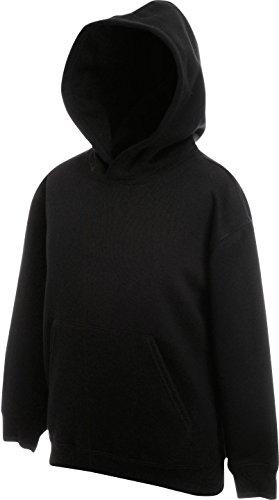 Fruit of the Loom Kids Kapuzen Sweatshirt 62-043-0 128 (7-8),Black Jungen Hoodies 8 20