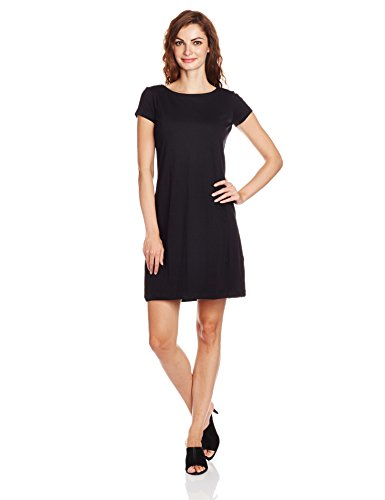 People Women's Cotton Cut-Out Dress (P20401064974100_Black_M )  available at amazon for Rs.399