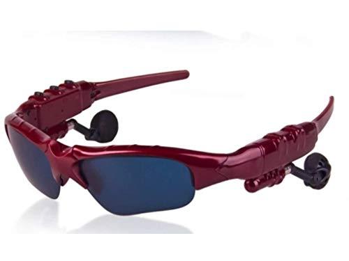 AILI Bluetooth Sonnenbrille Mit Eingebautem Kabellosem Kopfhörer Stereo Ohrhörer Mit Hände Frei Musik MP3 Player Telefon Anruf,Red