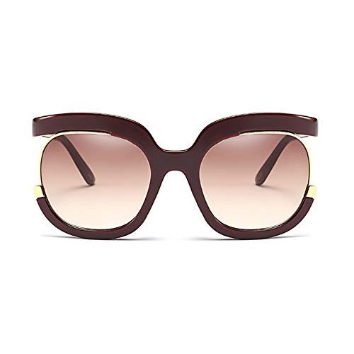 MoHHoM Sonnenbrille Sonnenbrille Frauen Übergroße Große Hälfte Rahmen Uv400 Vintage Sonnenbrille Retro Brillen Für Die Weiblichen Dunkelrot