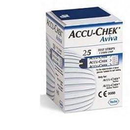 ACCU-CHEK Aviva Strisce Reattive per la Glicemia, 25 Pezzi