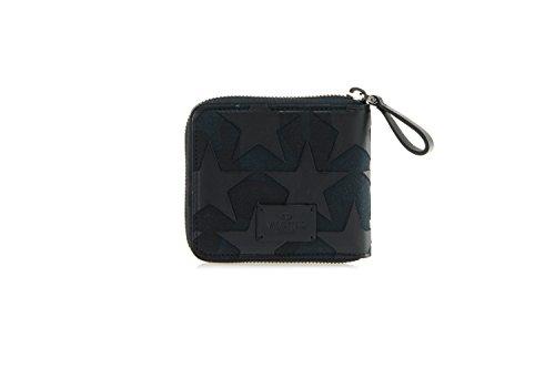 VALENTINO-Mens-Camustars-Leather-Canvas-Zip-Wallet-Black