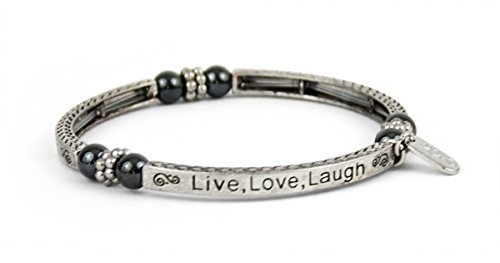 Schmuck Damen Magnetschmuck Armband Live Love Laugh, 6cm