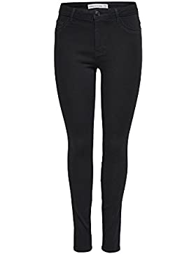 JACQUELINE de YONG JDY Skinny High ulle Black Jeans DNM Black, Negro, X-Large