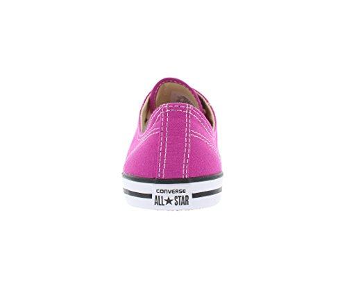 Converse - Chuck Taylor en cuir Oxford Low Top Chaussures en Noir pink