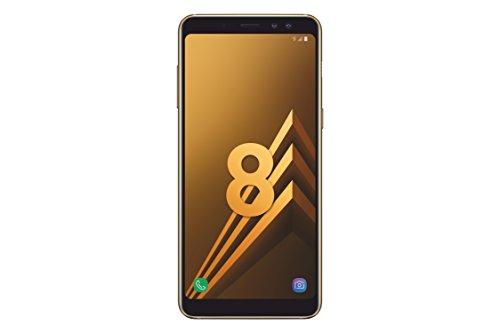 Samsung Galaxy A8 2018 Smartphone Débloqué 4G (Ecran : 5,6 pouces - Nano-SIM - Android 7.1 - 32 Go) Or Topaze