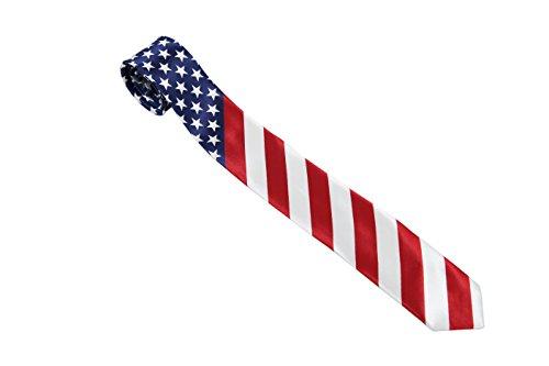 Komonee USA Stars and Stripes amerikanische Flagge Krawatte (Ti40)