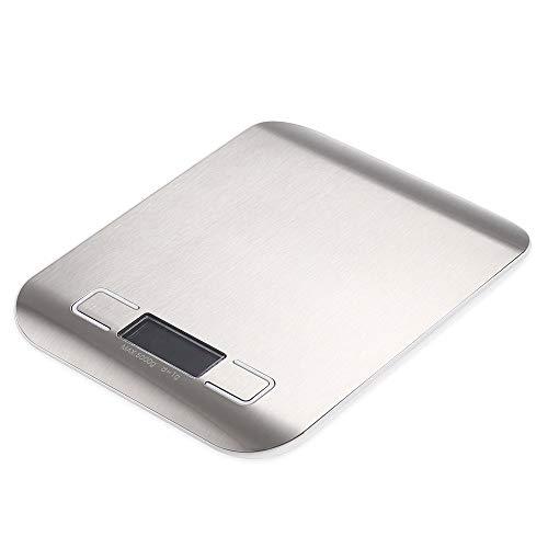 ZHANGYUGE balanzas de Cocina Mini portátil de Bolsillo de precisión de Acero Inoxidable balanza electrónica Joyería Peso Gramos de Oro,5Kg-1G