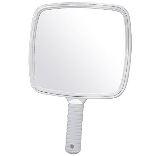 TRIXES Espejo de Mano Grande Blanco para Peluquerías