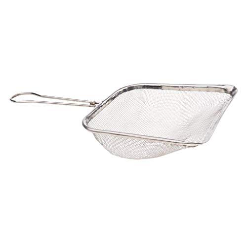 SGerste Reptiliensand Schaufel Metall Kotschaufel Terrarium Reinigungswerkzeug Silber
