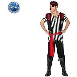 Traje de pirata de abordo para hombre.