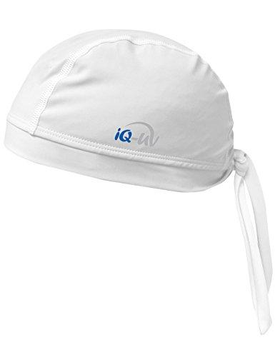 iQ-UV 300 Bandana, UV-Schutz Kopftuch, White, L (59cm)