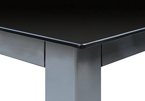 Alu Sitzgruppe 8+1 Sitzgarnitur Gartengarnitur Tischplatte aus Glas + klappbare und neigbare Stühle - 7