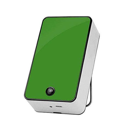 Providethebest Mini portatile tenuto in mano scrivania aria di raffreddamento del condizionatore USB ventola di raffreddamento per casa all'aperto Ufficio verde