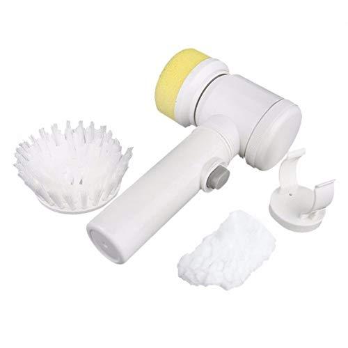 LHAMM Reinigungswerkzeug Neue praktische 5 in 1 multifunktionale elektrische Haushalt Magic Brush ABS Nylon Küche Badewanne Reinigung Fenster Pinselreiniger, weiß (Küche Brush)