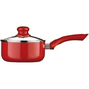 Red Ecocook White Ceramic Non Stick Saucepan Fry Pan In