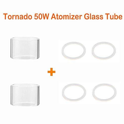 Tubo di Vetro Pyrex fit Lovaper Tornado 50W Atomizzatore, Prodotto senza Nicotina, nessun liquido - Tornado 50W Glass Tube