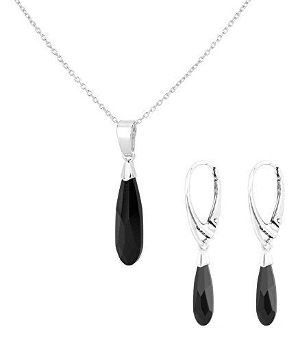5f0a3bab3b665 ARLIZI conjunto de joyas collar pendientes Swarovski cristal plata de ley  925 - 0999