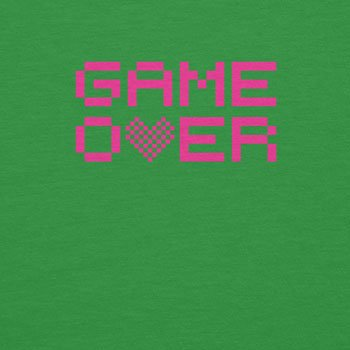 Planet Nerd Game Over - Damen T-Shirt Grün