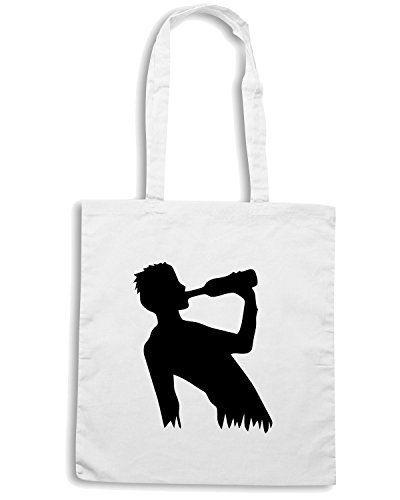 T-Shirtshock - Borsa Shopping BEER0144 alcoliche-Magliette Bianco