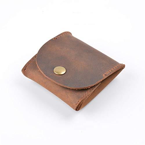 Details Geldbörse (LGJJJ Mini Geldbörse Vintage Brieftasche Leder Geldbörse Aus Weichem Leder Münzbeutel Mini Größe Mini Beutel Ändern Brieftasche Geschenk Schmuck, Hellbraun)
