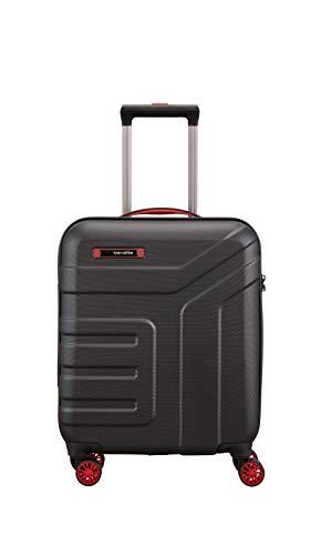 """Travelite Koffer-Serie """"VECTOR"""" von travelite: Robuste Hartschalen-Trolleys und Beautycases in 4 Trendfarben Kosmetikkoffer, 55 cm, 40L, Schwarz"""