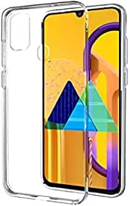 Kushu® Exclusive Soft Silicone TPU Jelly Crystal Clear Case Soft Transparent Back Case Cover for Samsung Galaxy M30s