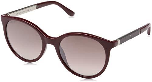 Jimmy Choo Damen ERIE/S NQ LHF Sonnenbrille, Rot (Burgundy Opal/Bw Black Brown), 54