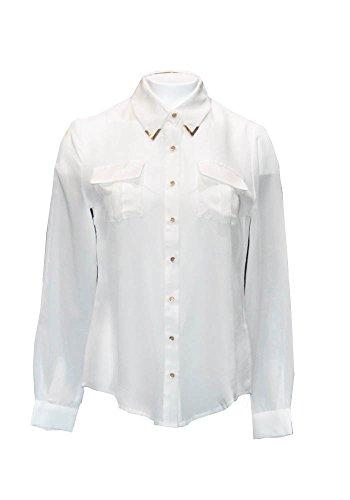 Camicia Penelope, 100% seta con tasche applicate, bottoni oro satin