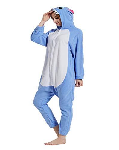SMITHROAD unisex Jumpsuit Tier Karton Fasching Halloween Kostüm Sleepsuit Cosplay Fleece-allgemein Pyjama Schlafanzug Erwachsene Unisex Nachtwäsche