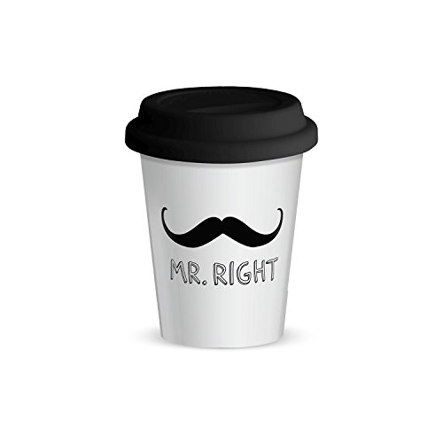 "GRUSS & CO 44416 Becher to go mit Motivdruck ""Mr Right"""