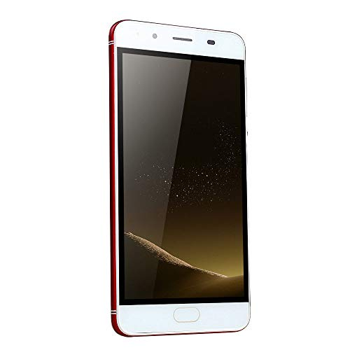 "Oasics Smartphone, WiFi Bluetooth GPS 4G Vollbildanruf 5,0""Ultradünne Android5.1 Quad-Core 512 MB + 512 MB GSM WiFi Dual-SIM-Dual-Kamera intelligentes Mobiltelefon (rot)"