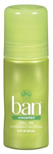 Ban Original Roll-On Antiperspirant & Deodorant, Unscented 1.5 oz (44 ml) by KAO Brands