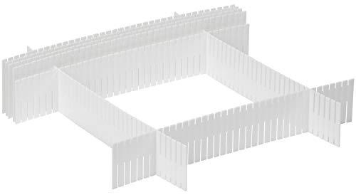 com-four® 8X Schubladenorganizer, verstellbar, zum strukturierten Aufbewahren (08 Stück - Schubladenorganizer)
