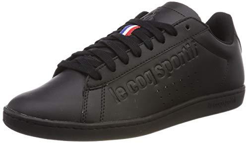 f919b1d9de768d Le Coq Sportif Courtset, Baskets Mixte Adulte, Noir Triple Black, 40 EU