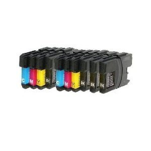 10 XL Patronen kompatibel zu Brother DCP-J315W LC 985 LC 39 Sparset (4x schwarz & je 2x cyan magenta...