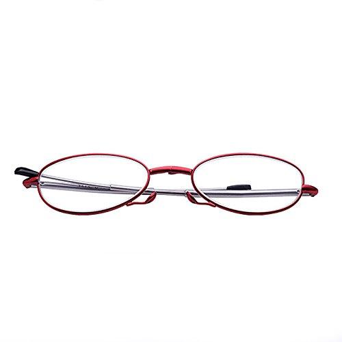 PinzhiPortable Fashion Folding Brille Rotation Gläser +1.50